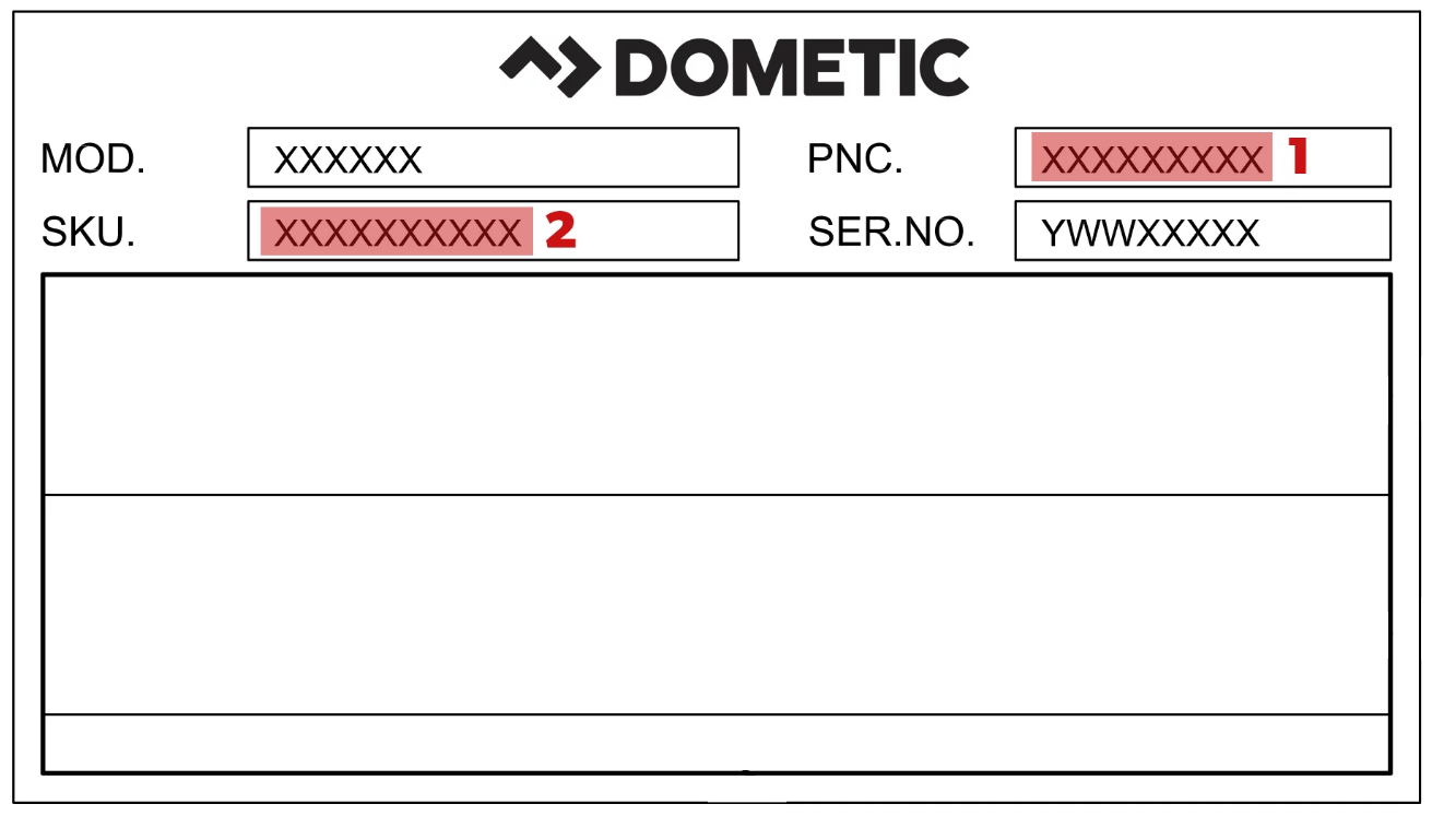 Dometic type plaatje